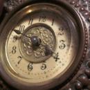 Art Nouveau Copper Case Mantle Clock, signed
