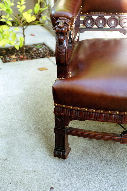 Victorian Arm -chair with Lion's motif