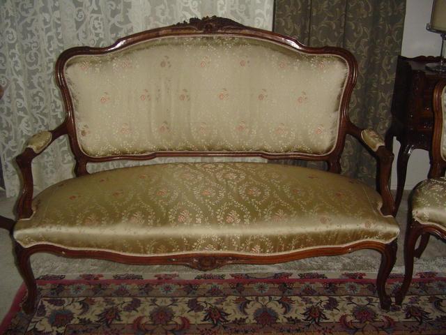 Louis XV  Walnut Parlour Suite Set