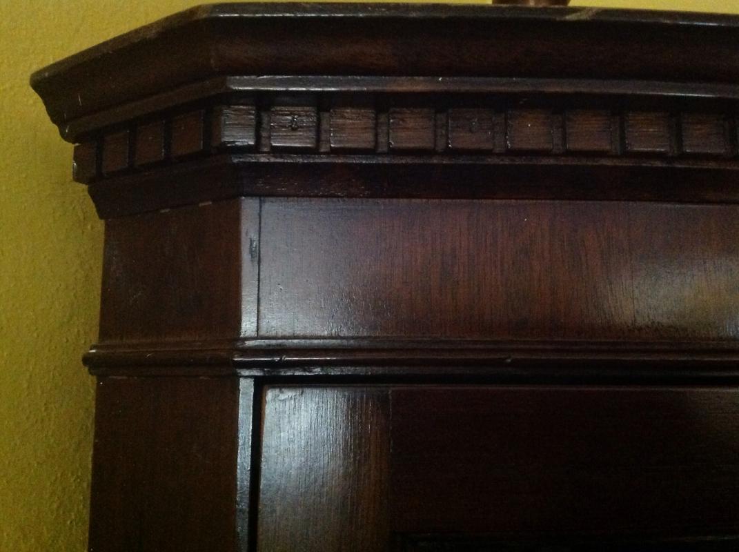English Mahogany  Bow Front Corner Cabinet