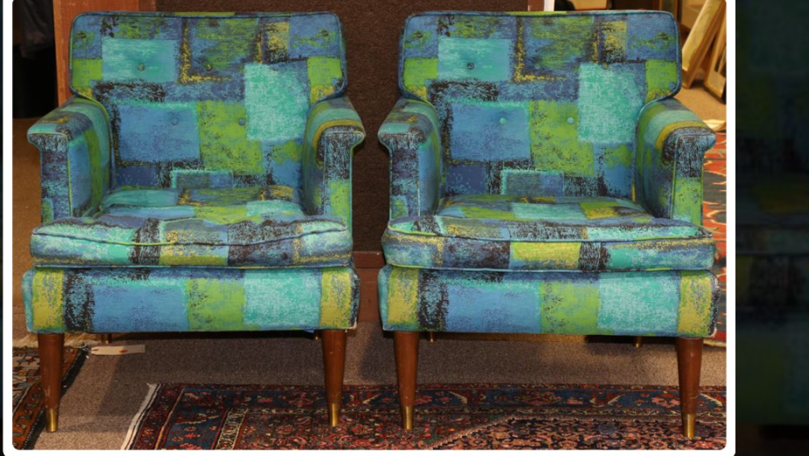 Mid Century Milo Baughman lounge Chairs
