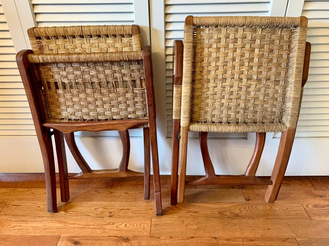 Mid Century Hans Wagner Folding Chairs