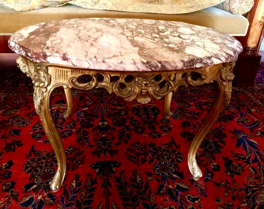 Louis XV Marble Center Table