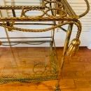 Italian Gilt Rope & Tassel Bar Cart