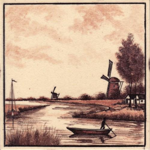 Dutch Tile Hand Painted