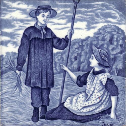English Picture Tile Wedgwood Month