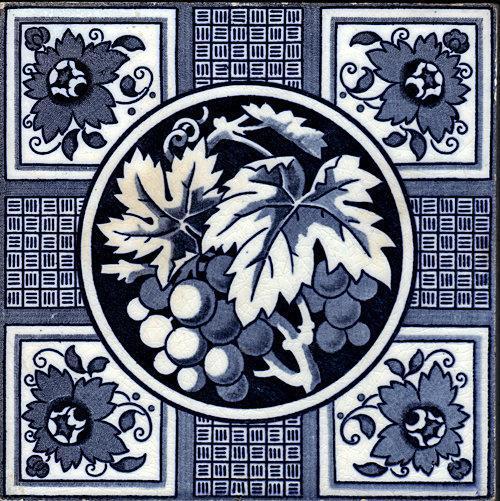 English Transfer Floral Tile