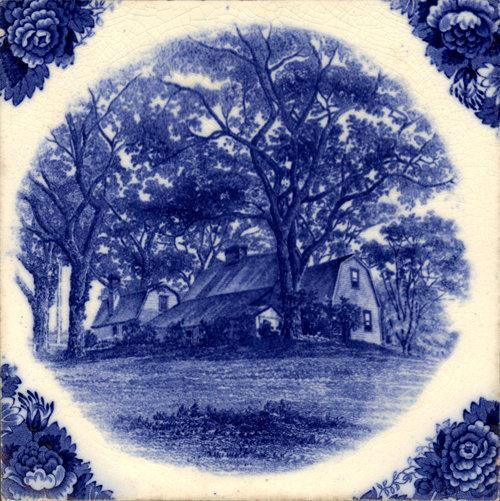 English Historic Tile Wedgwood Fairbanks Homestead