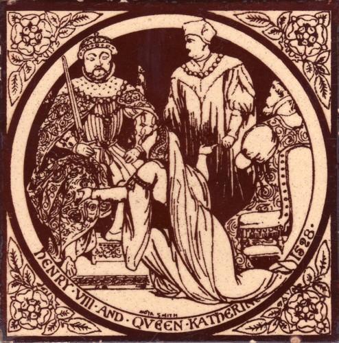 Minton Old English History Tile, Moyr Smith