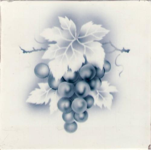 Hand painted Schmider fruit tile