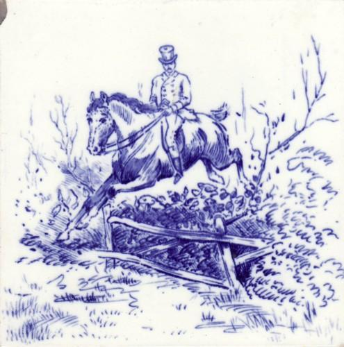 English Hunt Scene Tile