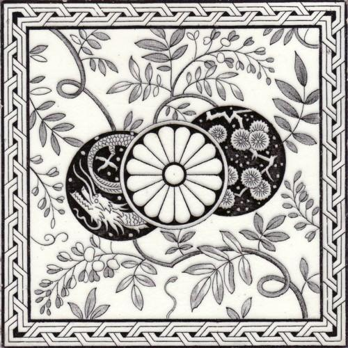 English Transfer Tile  by Minton's