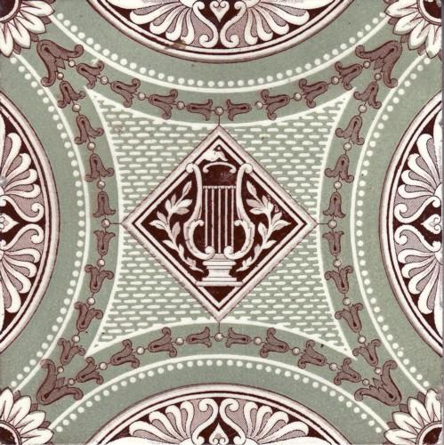 English Transfer Tile  by Minton