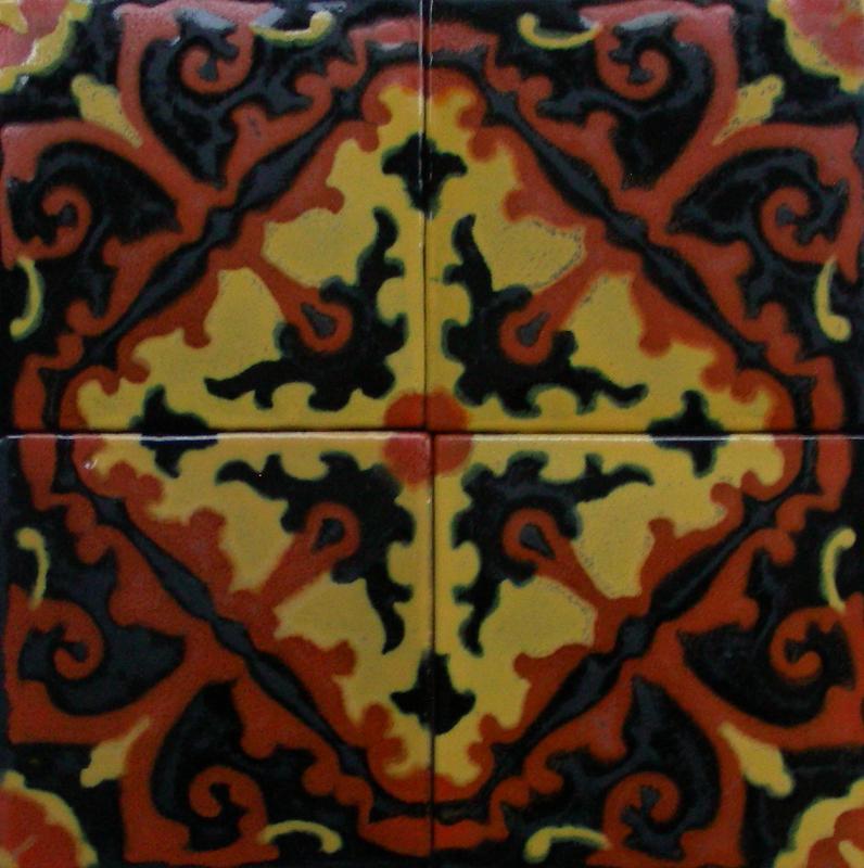 California Arts & Crafts Tile panel