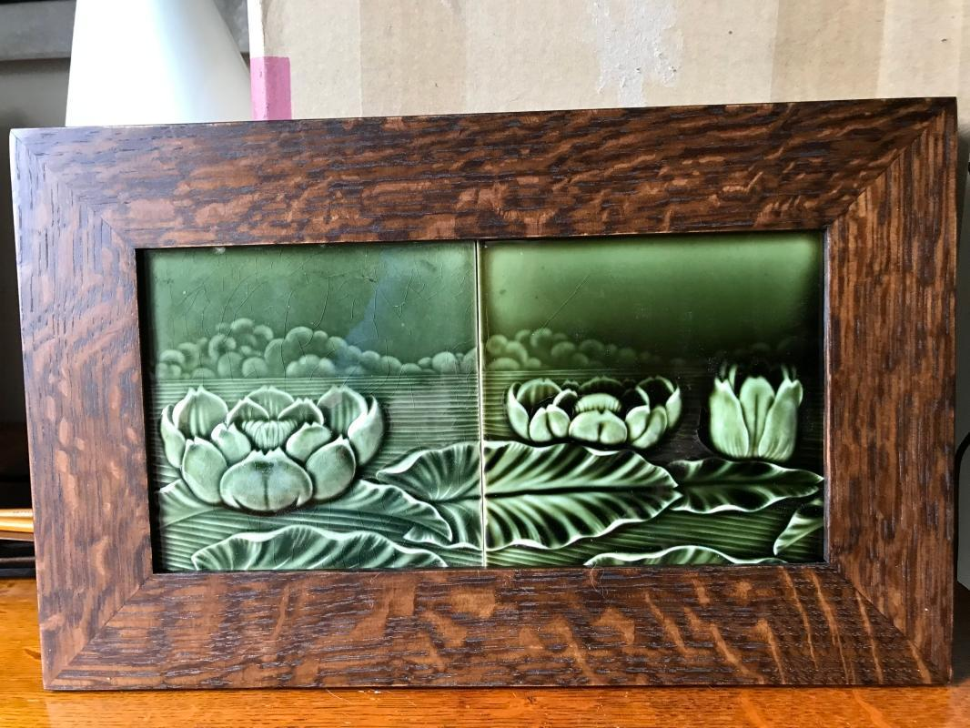 German Water Lily Tile Panel