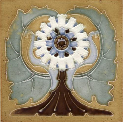 Art Nouveau Tile Somag Meissen