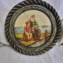Genuine ARTINI Hand Painted Nautical Engraving/Four Dimensional/Twin Etched/Fishermen