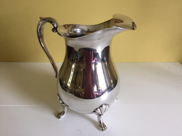 Footed Crescent Pitcher - Silver Plated