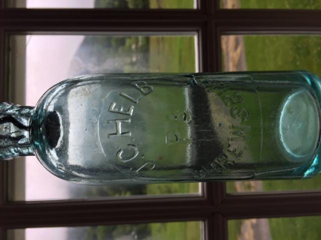 Old Slug Plate Bottle - J. C. Helb