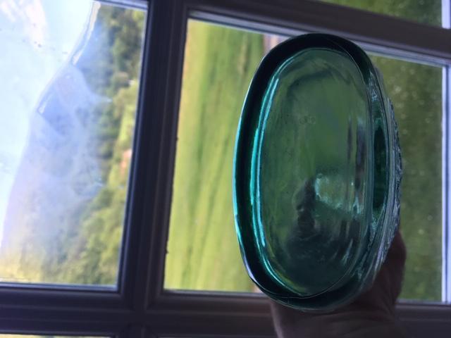 Ship & Eagle Bottle - Green