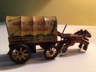 1955 Marx Tin Friction Davy Crocket Frontier Wagon