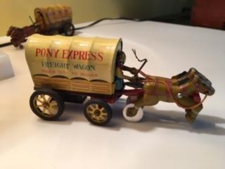 Tin Pony Express Wagon