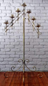 gothic style wedding candleabras