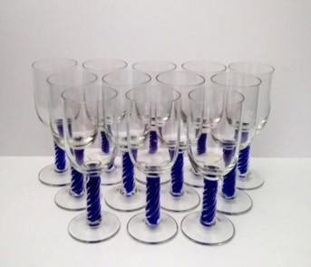 villeroy & Bock Tosca Blue twist glasses