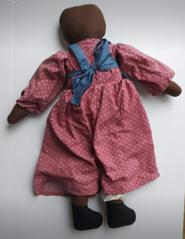 large ethnic folk style childs doll hand made