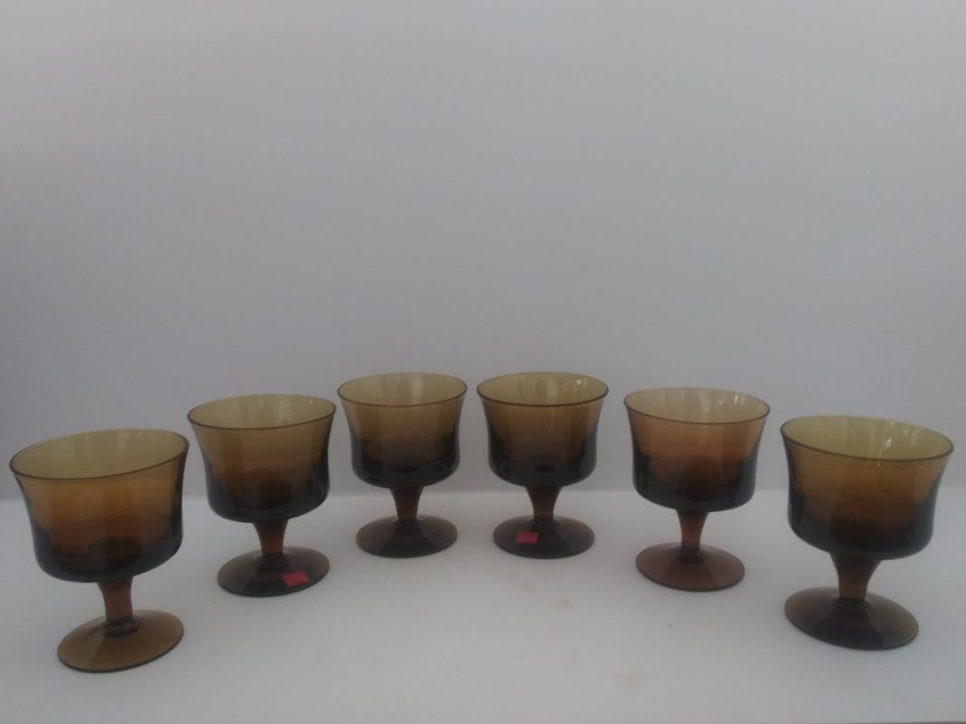 6 milnor sweden short stemmed juice glasses MCM Denby mirage