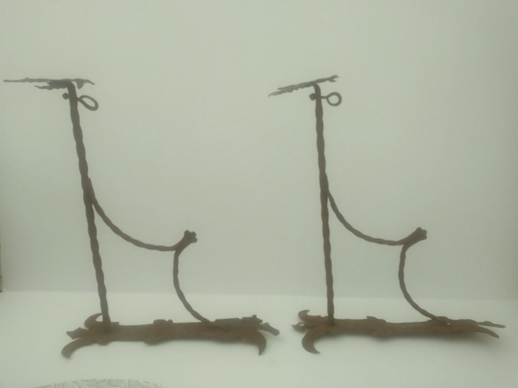 1700s double headed eagle wrought iron pub sign brackets
