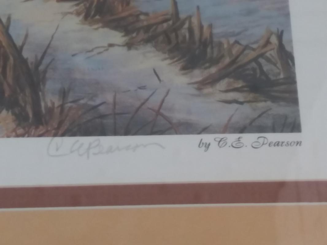 C. E. Pearson autographed #2 of Early Morning Arrival heritage series 1988