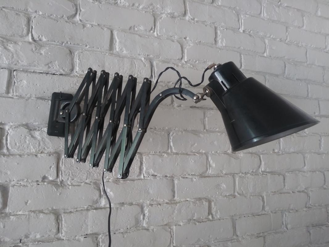 Vintage Bometal industrial scissor lamp Barcelona