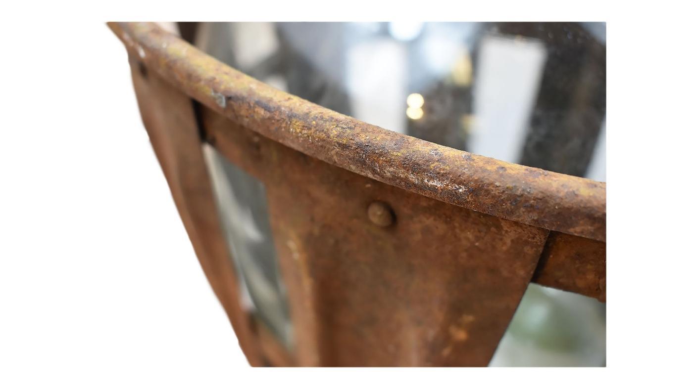 Demijohn in Metal Case | French Demijohn in Rustic Cage | Primitive Rustic Antique Demijohn