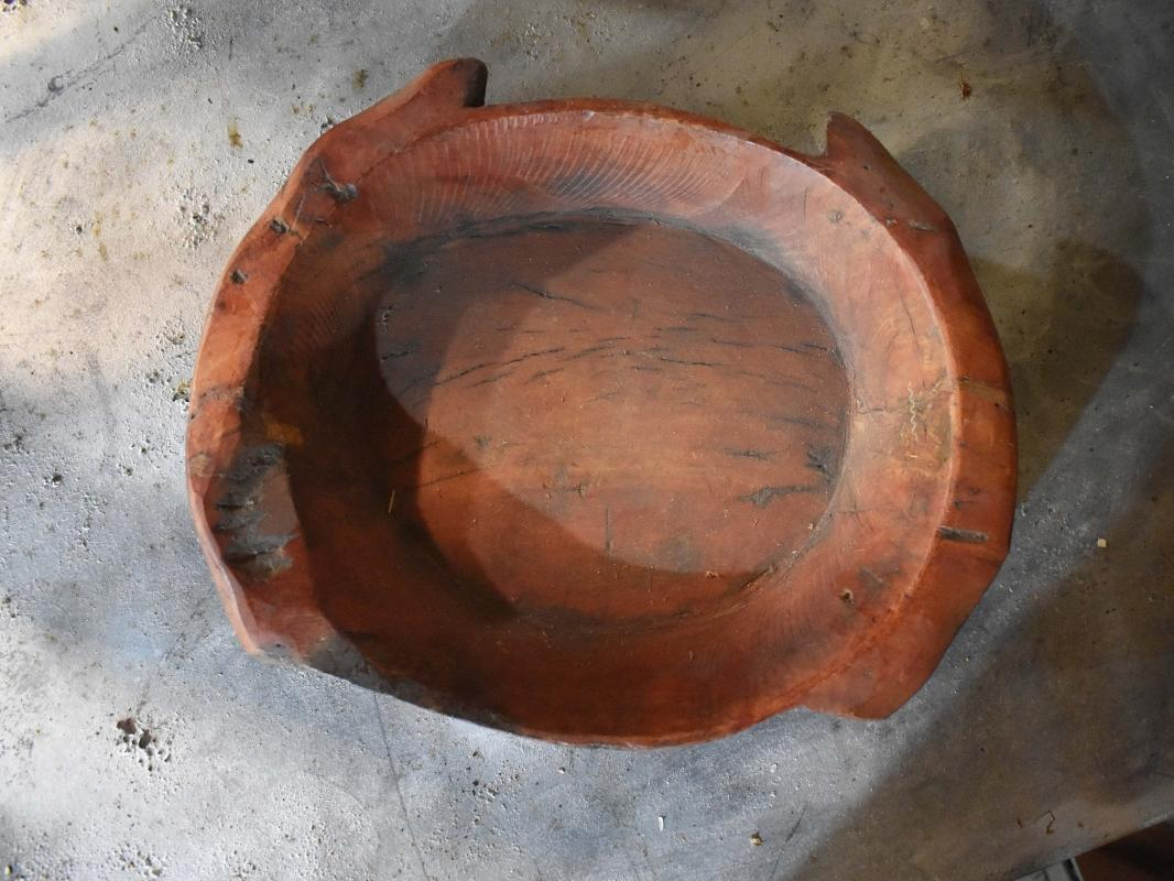 Wooden Antique Parat Bowls | Fruit Bowl Antique | Primitive Shabby Chic Wooden Bowl Plate