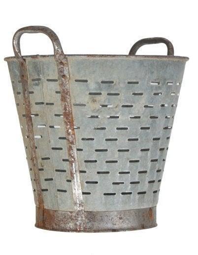 Olive Bucket/Basket Vintage