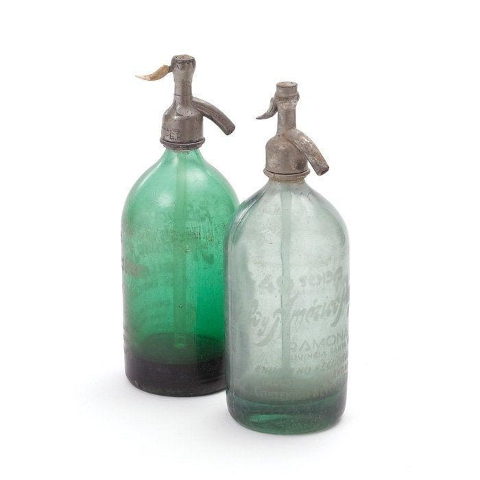 Seltzer Bottle Vintage GREEN/ CLEAR / BLUE