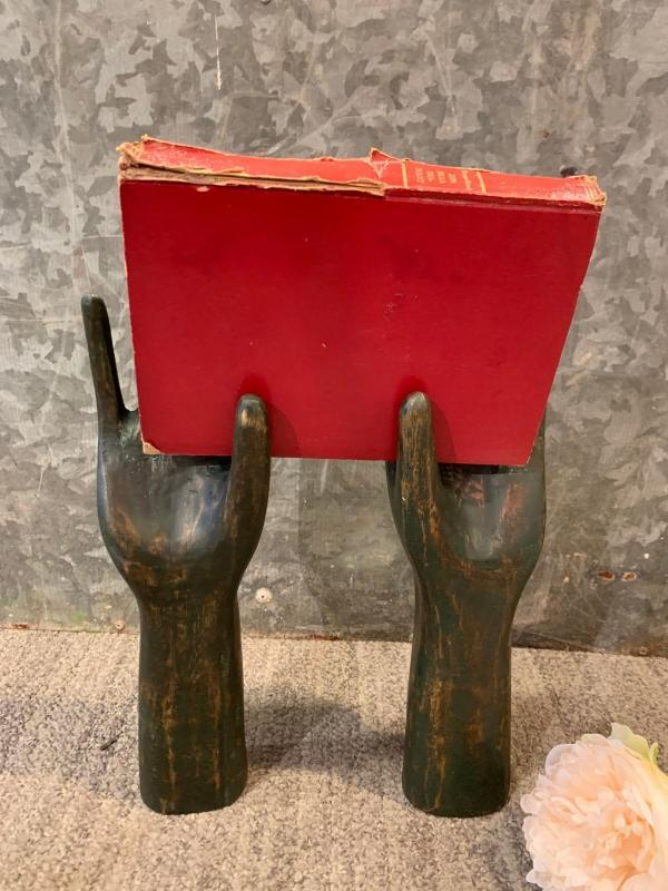 Rustic Hand Glove Molds, Distressed Home Decor, Chippy Vintage Style Table Decor