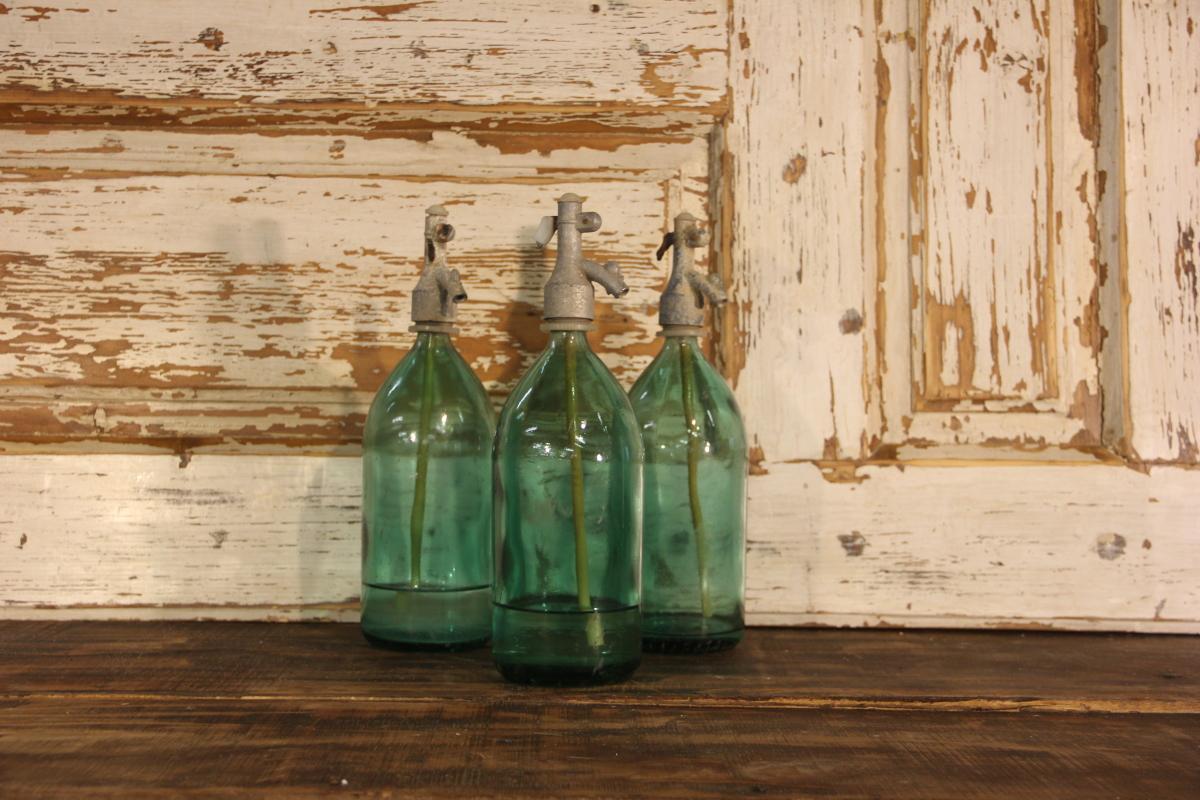 Seltzer Bottle Vintage GREEN