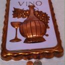 Vintage Metal Copper Mold, Vino, Wine, Grapes, 11 1/2