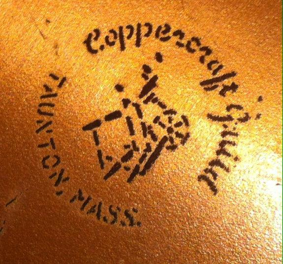 Vintage Metal Copper Ice Bucket wit Lions Head Handles, 8