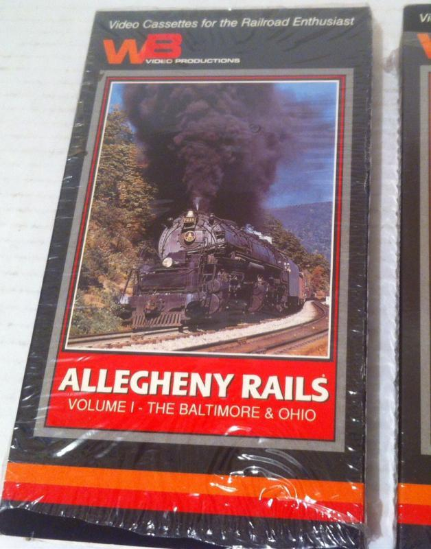 2 Vintage  Railroad Movies, VHS, Allegheny Rails, The Baltimore & Ohio, The Western Maryland, Volume 1 and 2, Fun
