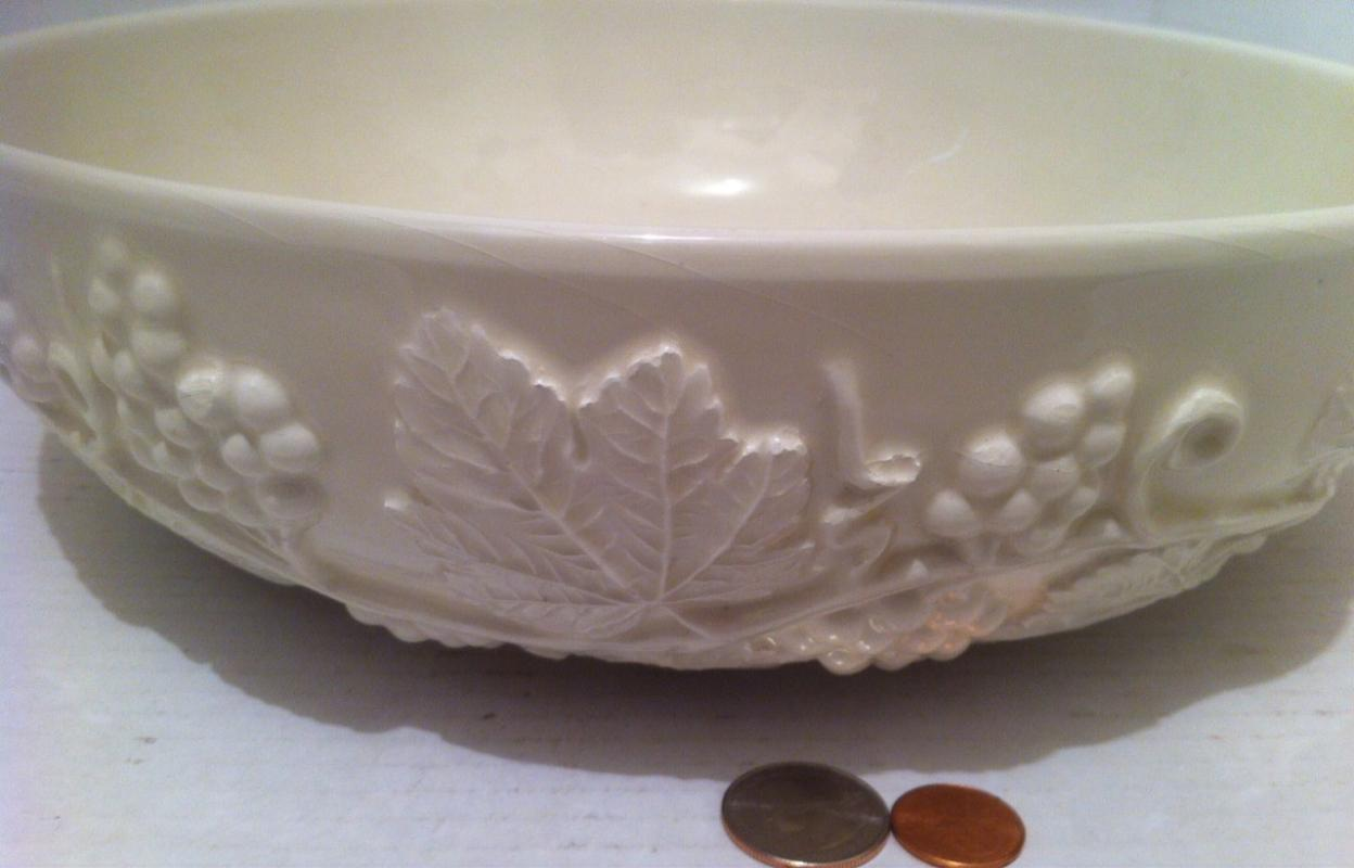 Vintage Italian Big Bowl with Grape Vines, 12 x 4, Salad Bowl, Fruit Bowl, Snack Bowl, Made in Italy, Kitchen Decor, Heavy Duty Bowl