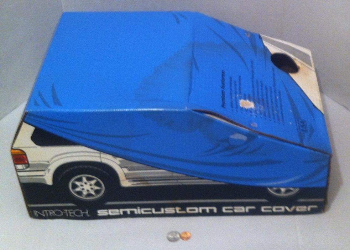 Vintage 1996 Never Used, Still Factory Sealed New, Intro-Tech Semicustom Car Cover with Cable and Lock, Fits Cars Size C, Fun Box Too
