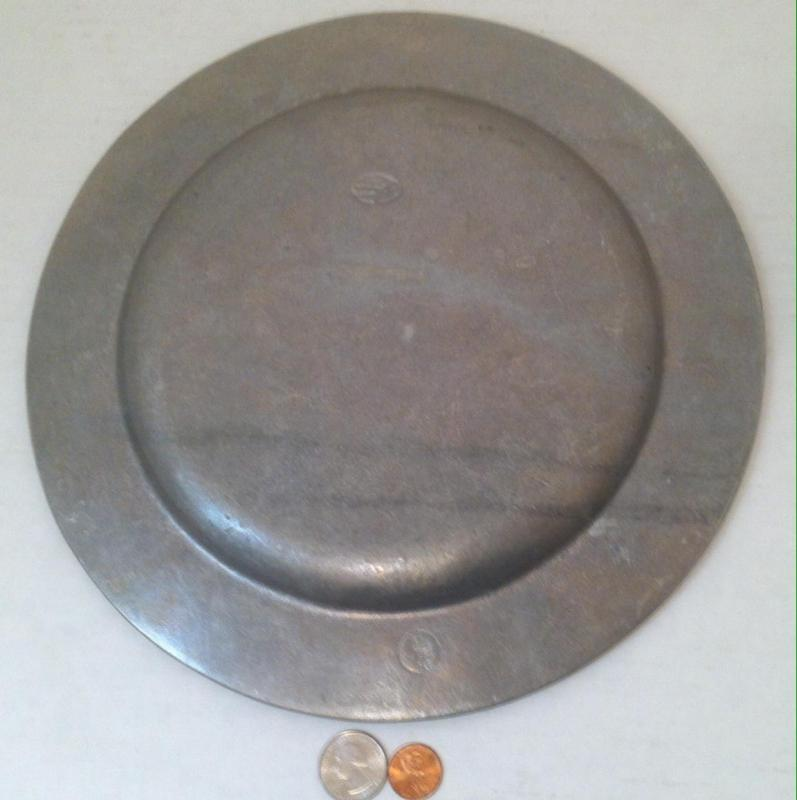 Vintage Heavy Duty Pewter Plate, Twenty Fifth Anniversary, Super Heavy, 11