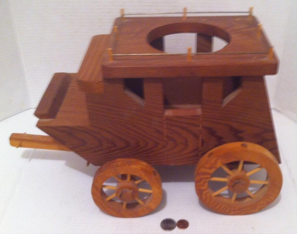 Vintage Wooden Western Stagecoach Planter Box, 17x10x7, Home Decor, Country & Western Decor, Plant Pot Holder, 5