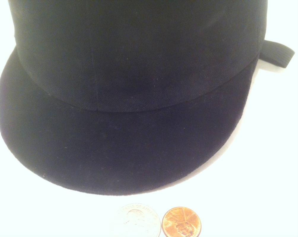 Equestrian Riding Hat Black Velvet Chin Strap Lined, Triple Crown, Harry Hill, Made in England, This is not brand new, it is used and good