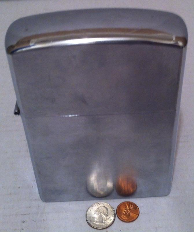 Vintage Giant Size Metal Silver Lighter, Made in Japan, Nice Lighter, Big, 6 1/2 x 4 1/2 x 1 1/2 inches, Ready to Go, Fun Conversation