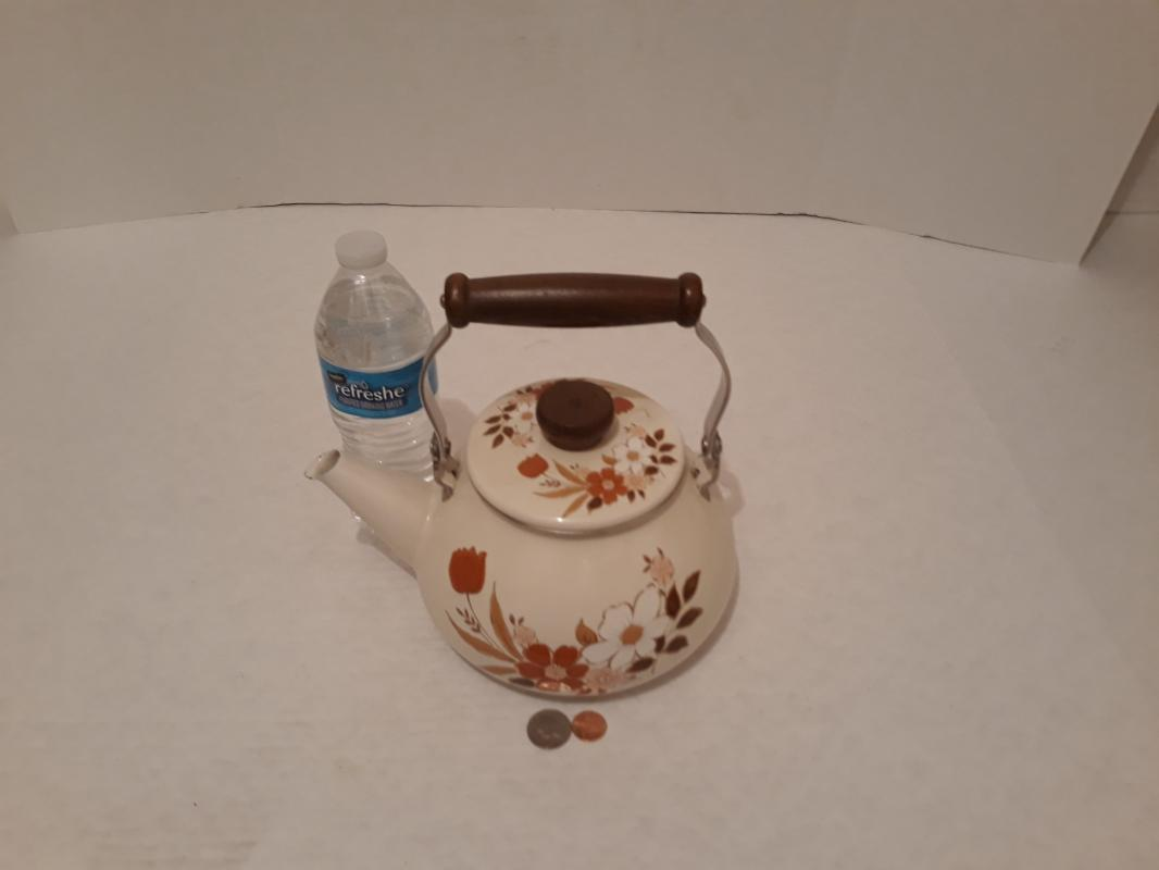 Vintage Kingsbury Redwood Cookware Collection Tea Pot, Tea Kettle, Large Size, Made in Japan, Quality Teapot, Kitchen Decor, Table Display