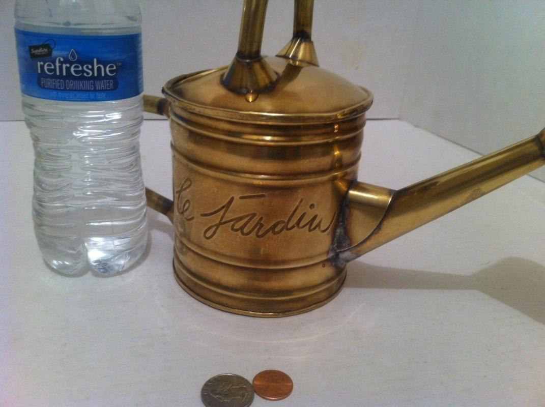 Vintage Brass Metal Water Can, Watering Bucket, Quality, Home Décor, Shelf Display, Fancy Watering Can, This Can Be Shined Up Even More